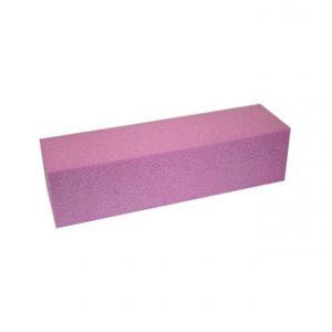 Polijstblok pink voor het gemakkelijke matteren van de nagels.