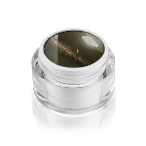 Magneet gel cat-eye saharablack voor een verrassende nageldecoratie.