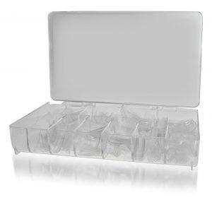 Nageltips clear 500 stuks in doos voor het verlengen van de natuurlijke nagel.