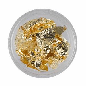 Bladgoud Folie goud voor extravagante nailart.