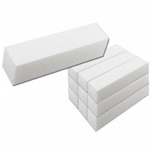 Polijstblok wit 10 stuks een handige tool voor iedere nagelstyliste.