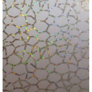 Transferfolie zilver-crackle voor een glitter nailart.