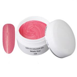 Metallic Gel roze is een led/uv gel met metallic effect.