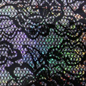 Transferfolie kant glitter-zwart voor een aparte nageldecoratie.