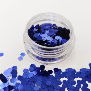Glitter pailletten groot blauw voor de mooiste nageldecoratie.