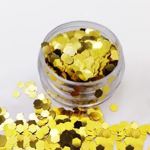 Glitter Pailletten groot goud voor 3d nailart.