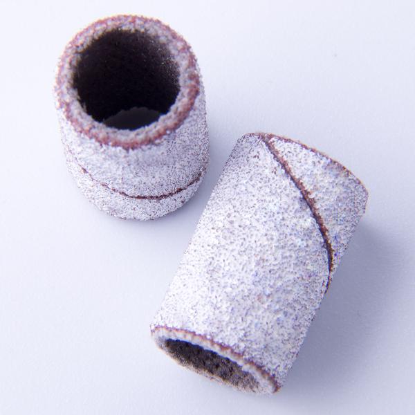 Schuurrolletjes 80grit 10 stuks voor het afvijlen van gel en acryl.