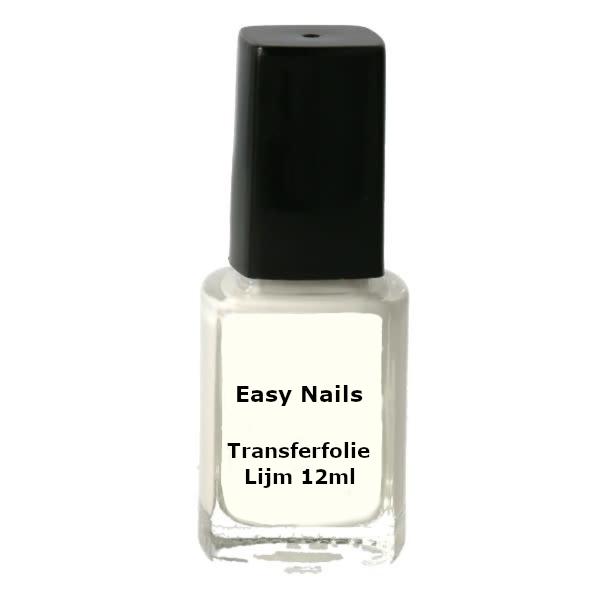 Transferfolie lijm 12ml in combinatie met transfer folie voor leuke nageldecoratie.
