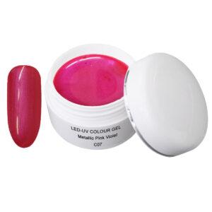 Metallic Gel pink-violet is een led/uv gel met metallic effect.