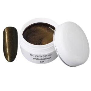 Metallic Gel goldbrown is een led/uv gel met metallic effect.