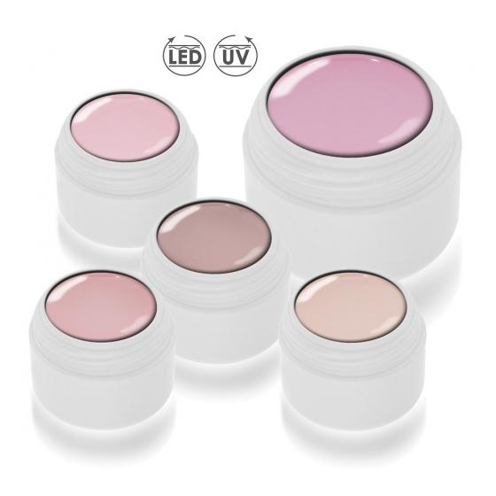 Natural Nude Set LED/UV 5delig voor een special voordelige prijs.