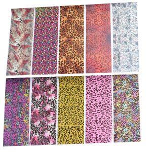 Transferfolie set in prachtige leopard prints.