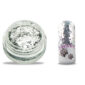Glitter pailletten klein zilver voor leuke nageldecoratie.