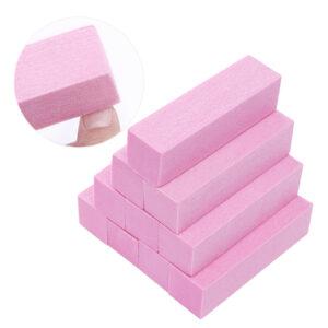 Polijstblok pink 10 stuks een ideale tool bij het maken van nagels.