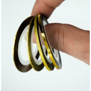 Striping tape set goud voor de leukste nageldecoraties.