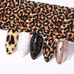 Transferfolie set animal mix met dierenprint op kunstnagels