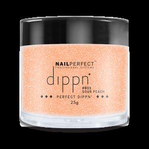Dippoeder in de kleur sour peach.