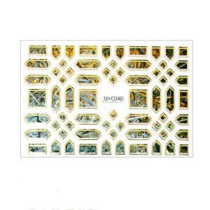 #D holo nagel sticker met metallic effect.