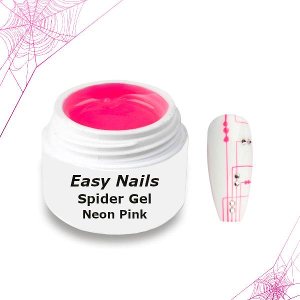 Spider Gel neon pink voor een subtiele nageldecoratie.