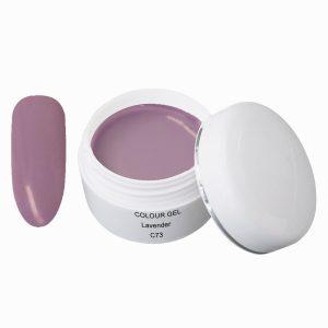 Colorgel in de kleur lavender.