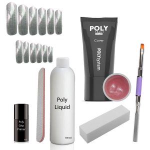 Poly Acrylgel set met gel in de kleur cover.
