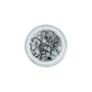 Strass steentjes in de kleur zilver 200 stuks voor mooie nailart.