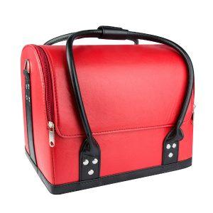 nagelkoffer, beauty case in leer-look met veel opbergruimte.