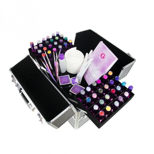 Beauty case, nagelkoffer in de kleur unicorn.