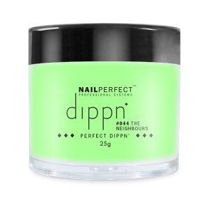 Dippoeder in een lichte groene kleur met fijn glitter.