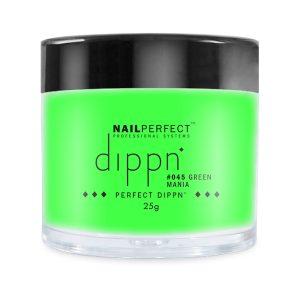 Dippoeder in een felle groene kleur, ook voor acrylnagels.