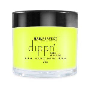 Dippoeder in de kleur geel, ook voor acryl nagels.
