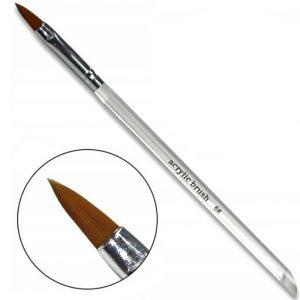 Acryl penseel maat 6 voor het maken van prachtige acryl nagels.