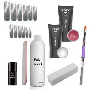 Poly Acrylgel starterset met 2 kleuren.