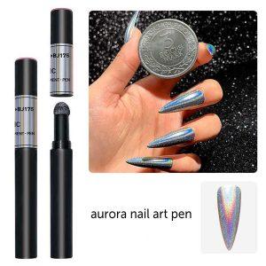 Chroom Poeder pen aurora voor een prachtige nailart.