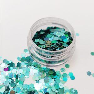 Glitter pailletten groot aqua voor een speciale nageldecoratie.
