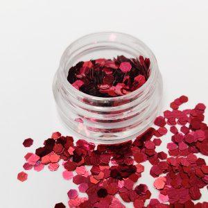 Glitter pailletten groot rood voor een leuke nageldecoratie.