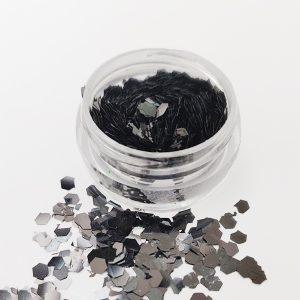 Glitter pailletten groot zwart voor een nail art met iets extra's.