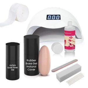 Rubber Base starterset natural cover voor het maken van gelnagels.