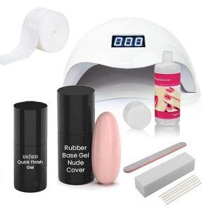 Rubber base starterset nude cover voor het maken van stevige nagel.