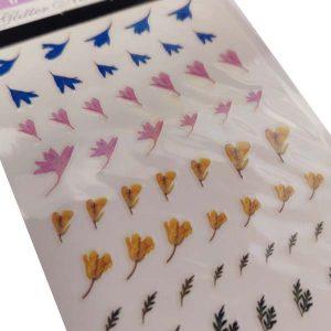 Nagelsticker Flower power 3 voor nageldecoratie met bloemen.