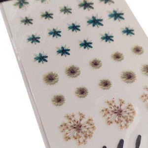 Nagelsticker Flower power 4 voor decoratie op gelnagels.