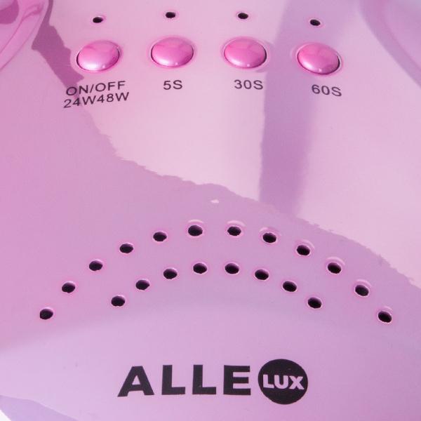 LED/UV lamp 48W pink-holo voor het uitharden van gel en gellak.