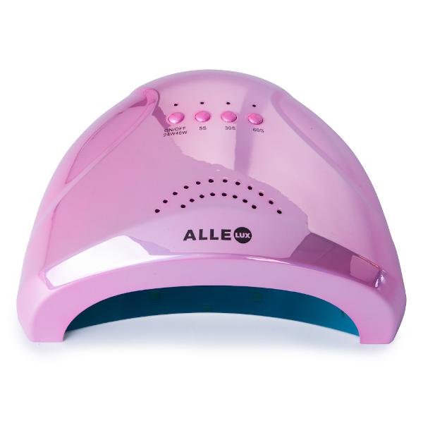 LED/UV lamp 48W pink-holo voor het uitharden van gelnagels.