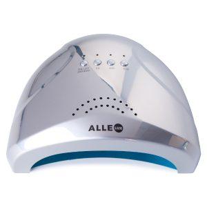 LED/UV lamp 48W zilver-holo voor het uitharden van gelnagels.