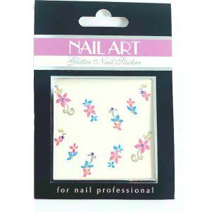 Nagelsticker Girly 2 voor een trendy nailart op gelnagels en acrylnagels.