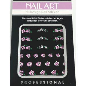 Nagelsticker Girly 7 met leuke roosjes in verschillende designs.