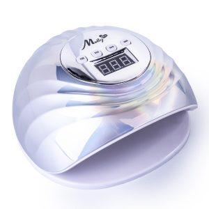 LED/UV Lamp 86W Infinity holo-zilver voor het uitharden van gel, gellak en polyacrylgel.