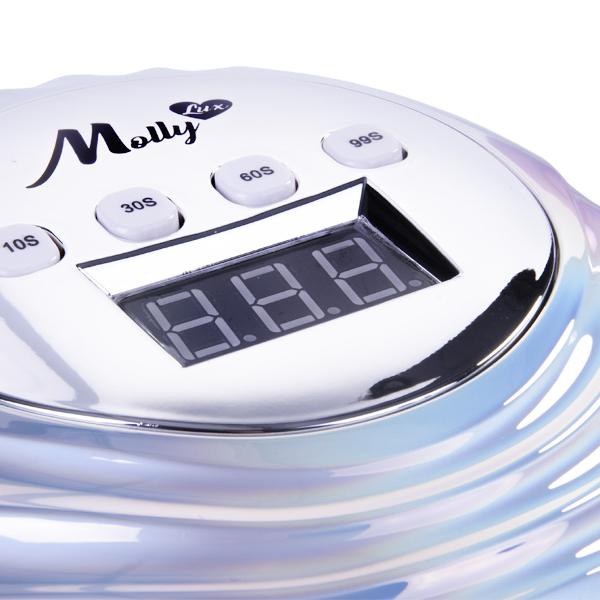 LED/UV Lamp 86W Infinity holo-zilver combineert design met functionaliteit.
