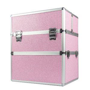 Nagelkoffer pink-zirkonia XL is ideaal voor de kapster of nagelstyliste.