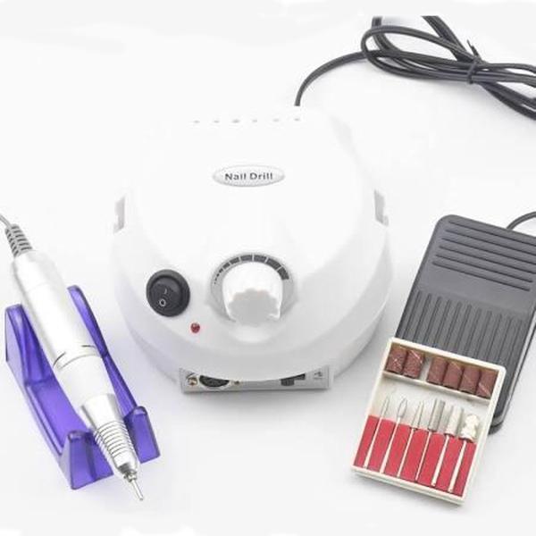 Nagelfrees wit 35W met gratis bitset voor het bewerken van gel, gellak of acryl.